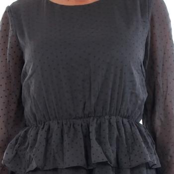 Vero Moda 10196226 VMKIM L/S SHORT DRESS O17 ASPHALT Gris oscuro