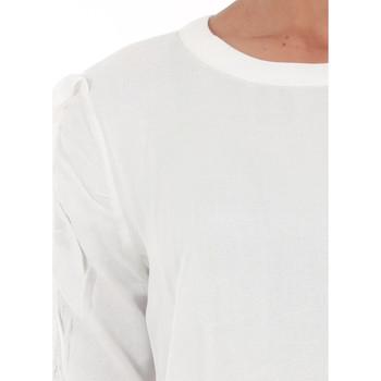 Vero Moda 10196235 VMSEATTLE FRILL 2/4 TOP EXP SNOW WHITE Blanco