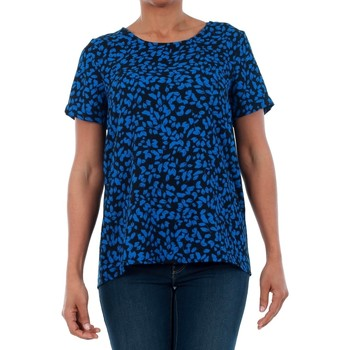 Vero Moda 10199847 VMHENNA FIFI S/S TOP SB2 STRONG BLUE/LEISE Azul