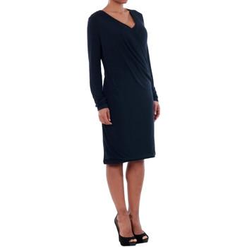 Vero Moda 10191364 VMNAOMI L/S WRAP SHORT DRESS D2-1 NIGHT SKY Azul marino