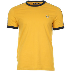 textil Hombre camisetas manga corta Fred Perry Taped Ringer T-Shirt Amarillo
