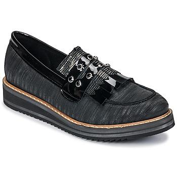 Zapatos Mujer Mocasín Regard RUVOLO V1 ZIP NERO Negro
