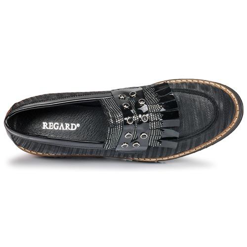 Zip V1 Mujer Zapatos Regard Nero Negro Mocasín Ruvolo I7gyvY6bf
