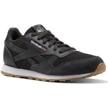 Zapatos Niños Zapatillas bajas Reebok Sport CL Leather Estl Negros
