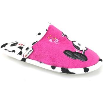 Zapatos Niña Pantuflas Superga zapatillas rosado fucsia textil AJ742 rosado