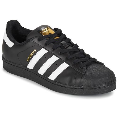 24ae95f5 Zapatos Zapatillas bajas adidas Originals SUPERSTAR FOUNDATION Blanco /  Negro