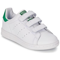 Zapatos Niño Zapatillas bajas adidas Originals STAN SMITH CF C Blanco / Verde