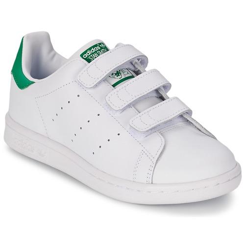 Zapatos Niños Zapatillas bajas adidas Originals STAN SMITH CF C Blanco / Verde