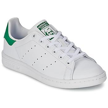 Zapatos Niños Zapatillas bajas adidas Originals STAN SMITH J Blanco / Verde