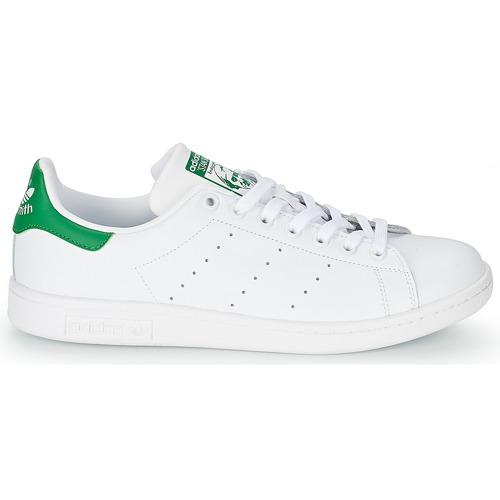 Stan Bajas Adidas Zapatillas Originals Smith Zapatos BlancoVerde 08nwvmN