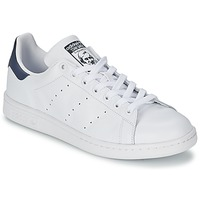 Zapatos Zapatillas bajas adidas Originals STAN SMITH Blanco / Azul