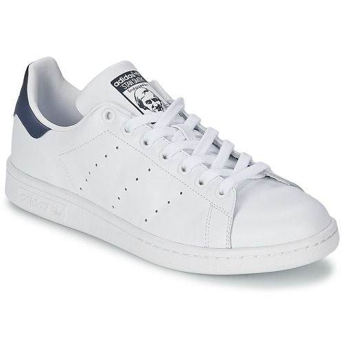 Venta de liquidación de temporada Zapatos especiales adidas Originals STAN SMITH Blanco / Azul