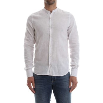textil Hombre camisas manga larga Bomboogie SM5159 T LIC CAMISA Hombre OPTIC WHITE OPTIC WHITE