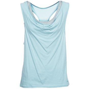 textil Mujer camisetas sin mangas Bench SKINNIE Azul
