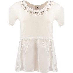 textil Mujer camisetas manga corta Twin Set JS82RE blanco
