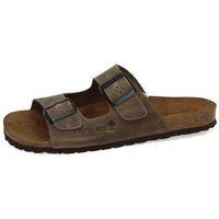 Zapatos Hombre Zuecos (Mules) Interbios Sandalia con hebilla Marrón
