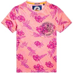 textil Hombre camisetas manga corta Superdry BOARD RIDERS POCKET LIT WEIGHT TEE Coral