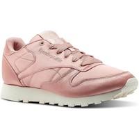 Zapatos Mujer Zapatillas bajas Reebok Sport CL LTHR SATIN Rosa