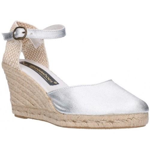 Fernandez 682 7C Plata (soleil) Mujer Plata Argenté - Zapatos Alpargatas Hombre