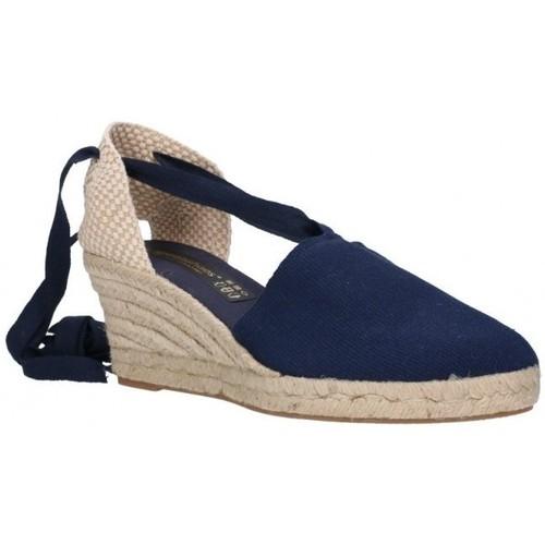 Zapatos Hombre Alpargatas Fernandez VALENC. CINTAS bleu
