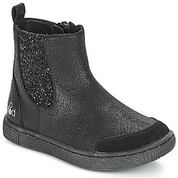 Zapatos Niña Botas de caña baja Mod'8 BLABLA Negro