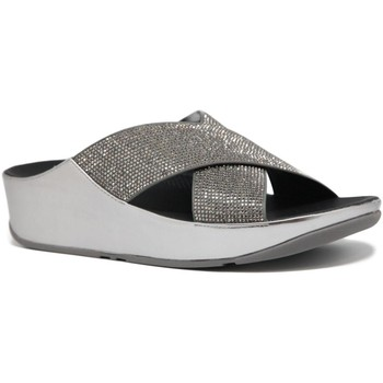 Zapatos Mujer Zuecos (Clogs) Fitflop Tm Crystall Slide-fit Flop plata plata