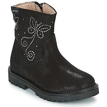 Zapatos Niña Botas de caña baja Garvalin COSMOPOLITAN SERRAJE Negro / Plateado