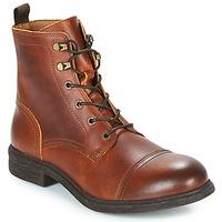 Zapatos Hombre Botas de caña baja Selected TERREL LEATHER BOOT Cognac