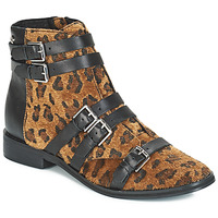 Zapatos Mujer Botas de caña baja Le Temps des Cerises IZY Leopardo