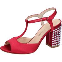 Zapatos Mujer Sandalias Lella Baldi sandalias rojo satén strass AH826 rojo