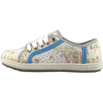 Zapatos Niña Zapatillas bajas Laura Biagiotti sneakers multicolor lona strass AH986 multicolor
