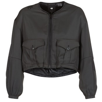 textil Mujer cazadoras G-Star Raw RACKAM OS CROPPED BOMBER Negro