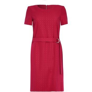 textil Mujer vestidos cortos Anastasia - Vestido con cintur�n de manga corta roja Red