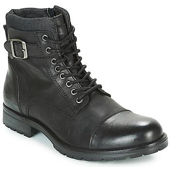 Zapatos Hombre Botas de caña baja Jack & Jones ALBANY LEATHER Negro