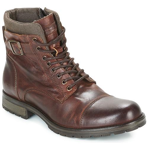 Zapatos Hombre Botas de caña baja Jack & Jones ALBANY LEATHER Marrón