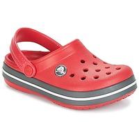 Zapatos Niños Zuecos (Clogs) Crocs CROCBAND CLOG KIDS Rojo