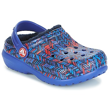 Zapatos Niños Zuecos (Clogs) Crocs CLASSIC LINED GRAPHIC CLOG K Azul