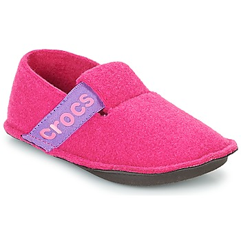 Zapatos Niña Pantuflas Crocs CLASSIC SLIPPER K Rosa