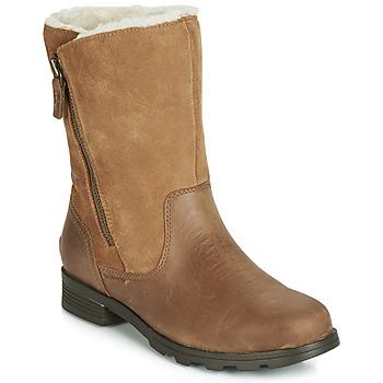 Zapatos Mujer Botas de caña baja Sorel EMELIE FOLDOVER Camel