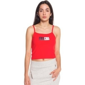 textil Mujer camisetas sin mangas Grimey ASHE TOP RED 8