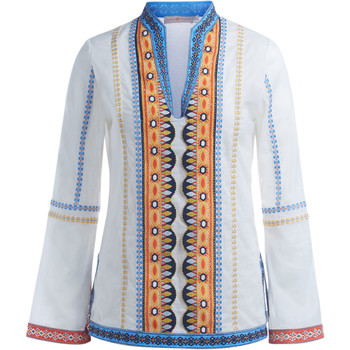textil Mujer jerséis Tory Burch Tunica  Stephanie in cotone bianco con ricami Blanco