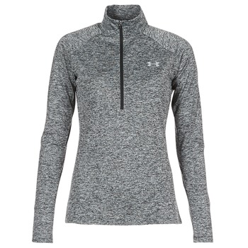 textil Mujer Camisetas manga larga Under Armour TECH 1/2 ZIP TWIST Negro