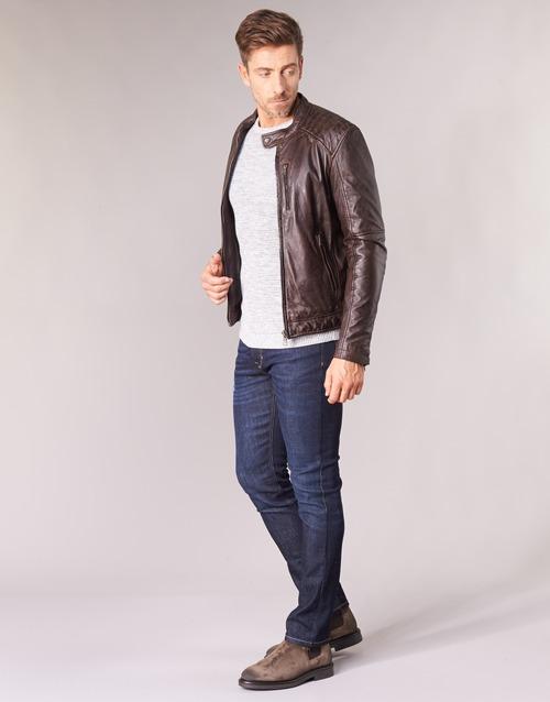 Agency CueroPolipiel Textil Marrón Oakwood De Chaquetas Hombre b6vyfgY7