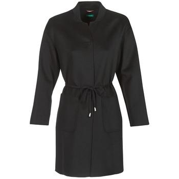 textil Mujer Abrigos Benetton MARBELLO Negro