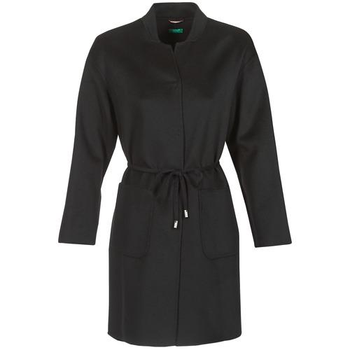 Benetton MARBELLO Negro - Envío gratis | ! - textil Abrigos Mujer