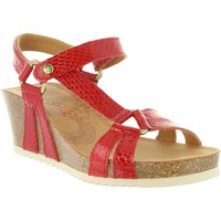 Zapatos Mujer Sandalias Panama Jack VIOLETTA SNAKE CHAROL B1 Rojo