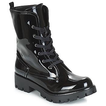 Zapatos Mujer Botas de caña baja Buffalo SKYLIGHT Negro / Barniz