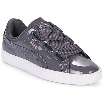 Zapatos Mujer Zapatillas bajas Puma WN BASKET HEART PATENT.IRO Hierro