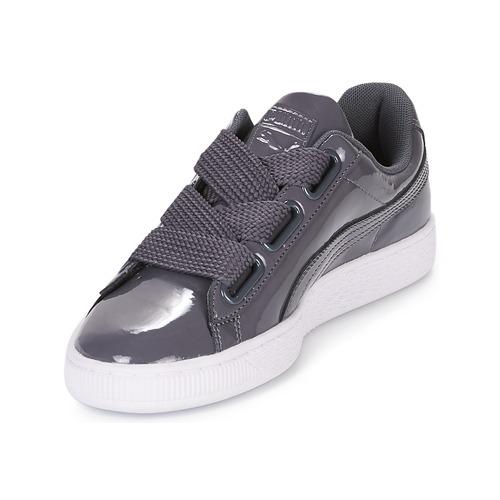 Hierro iro Puma Bajas Basket Wn Mujer Zapatillas Patent Zapatos Heart MqUzpSV