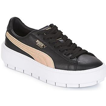 Zapatos Mujer Zapatillas bajas Puma WN PLATFORM TRACE BSQT.BLK Negro